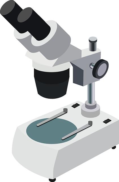 Grafika przedstawiająca mikroskop